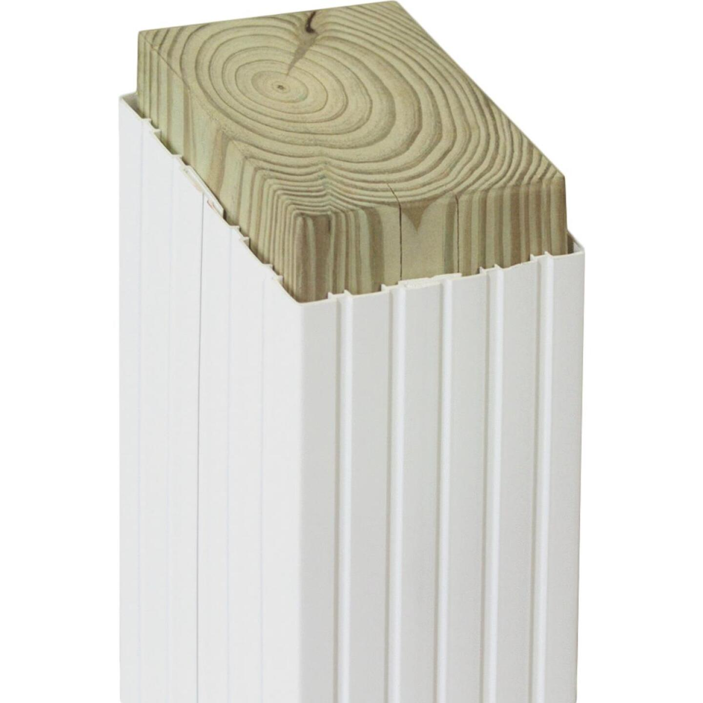 Beechdale 6 In. W x 6 In. H x 102 In. L White PVC Fluted Post Wrap Image 1