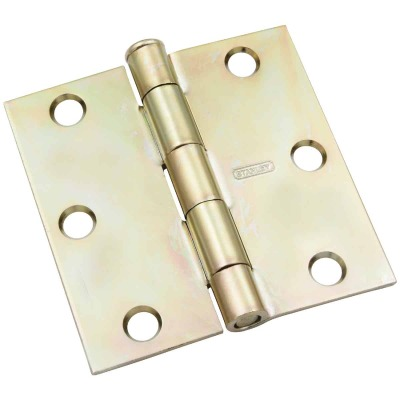 National 3-1/2 In. Square Satin Brass Tone Door Hinge