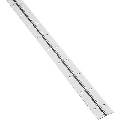 National Steel 1-1/2 In. x 48 In. Nickel Continuous Hinge