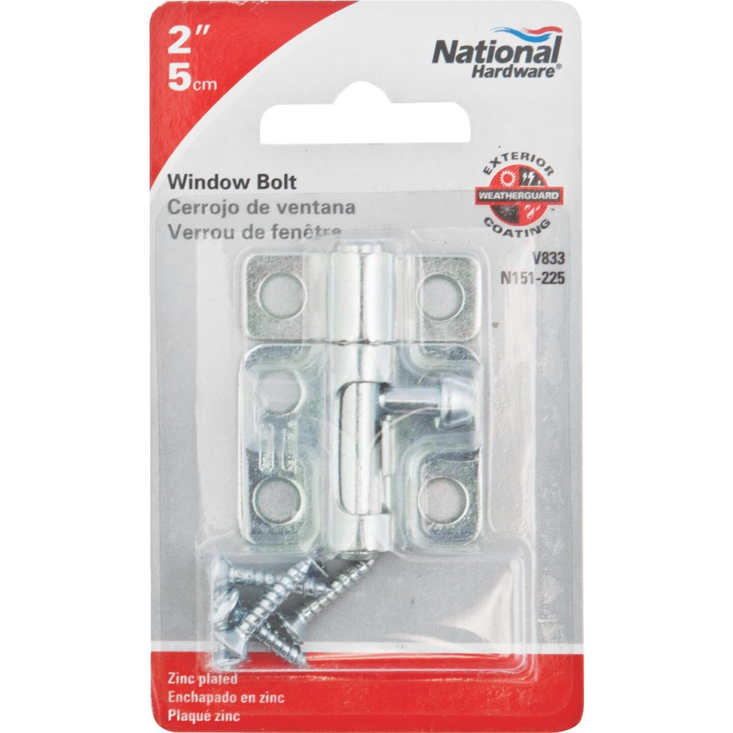 National 2 In. Zinc Cellar Window Barrel Bolt Image 2