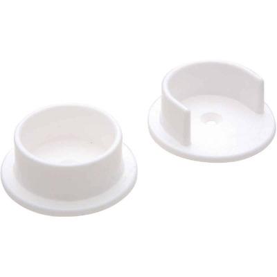 National 1-3/8 In. Plastic Closet Rod Socket, White (2-Pack)