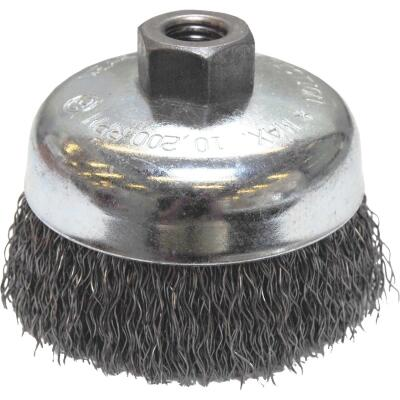 Weiler Vortec 4 In. Crimped 0.02 In. Angle Grinder Wire Brush