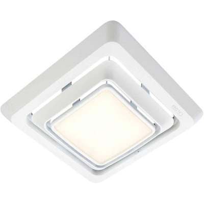 Broan 9-3/4 In. W. x 11 In. L. White LED Exhaust Fan Replacement Grille Upgrade