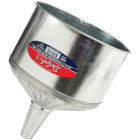Delphos Heavy-Duty 8 Qt. Galvanized Steel Funnel with Center Spout Image 1