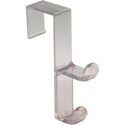 InterDesign Plastic Clear 1 In. Over-the-Door Hook