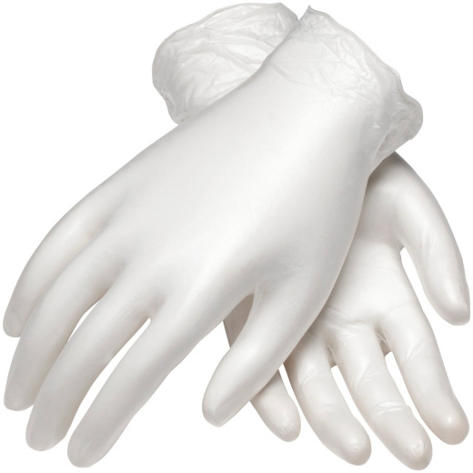 PIP Ambi-Dex Medium Clear Vinyl Disposable Gloves (100-Pack)