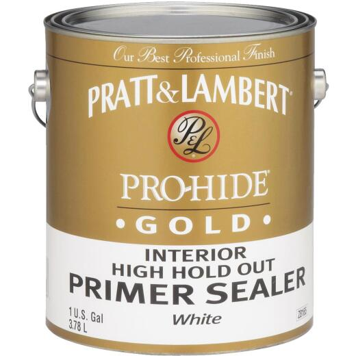 Pratt and Lambert Pro-Hide Gold High Hold Out Interior Primer Sealer, White, 1 Gal.