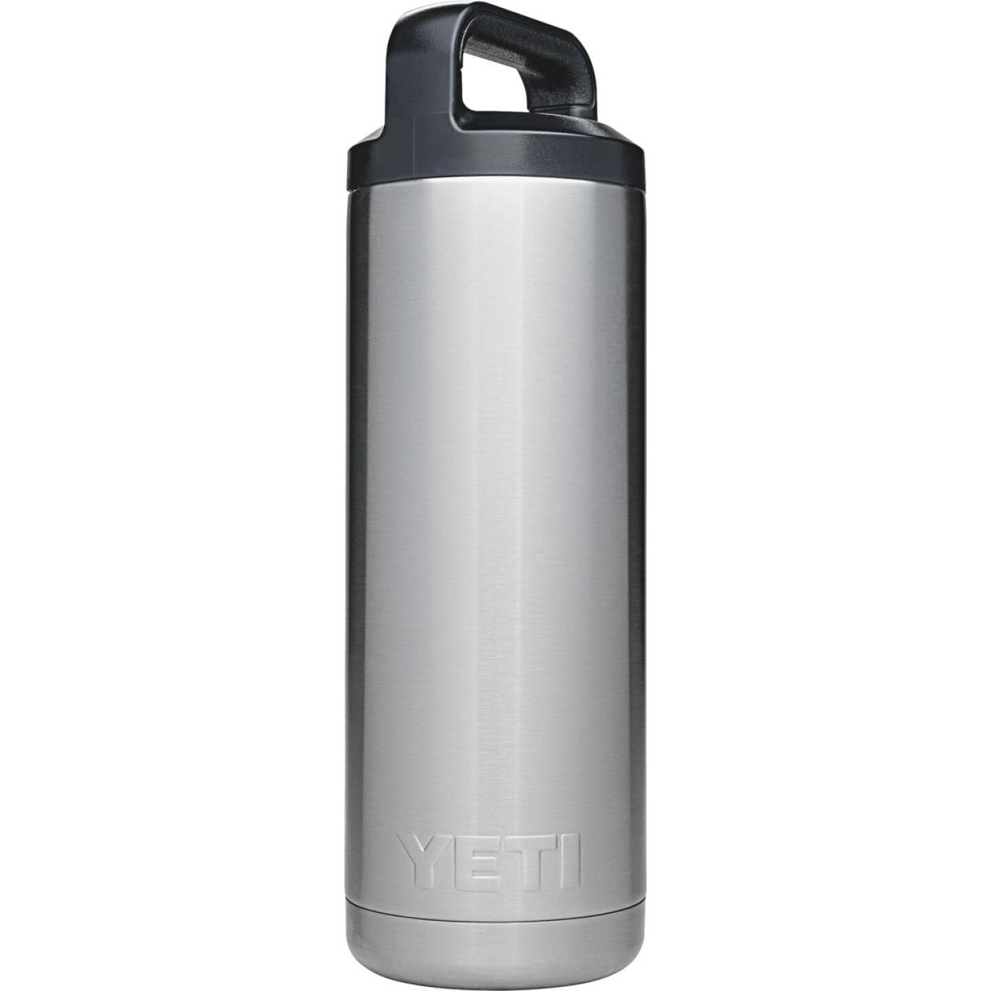 Yeti Rambler 18 Oz. Silver Stainless Steel Insulated Vacuum Bottle Image 2